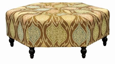 Armen Living LCPUOTX Punjab Ottoman with 1.8 Density Fire Retardant Foam, Solid Wood Feet and Durable Woven Fabric Upholstery in