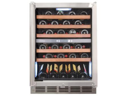 "Vinotemp VT45R 24"" Wine Cooler, in Stainless Steel"