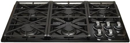 Dacor RGC365BNGH Renaissance Series Natural Gas Sealed Burner Style Cooktop, in Black