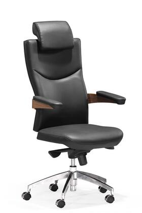 Zuo 20588 Chairman Collection Bent Wood Back Adjustable Modern Office Chair in