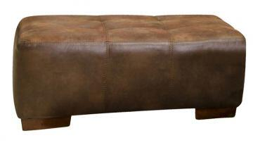 "Jackson Furniture Drummond Collection 4296-10- 43"" Ottoman with Block Feet, Tufted Top and Padded Polyester Fabric in"