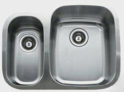 "Ukinox D37670308 26"" Wide Undermount Double Bowl Sink - 18-Gauge: Stainless Steel"