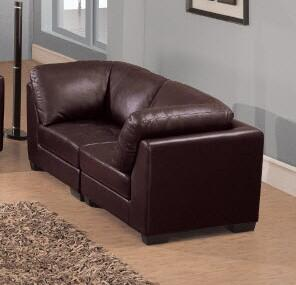 Global Furniture USA F215L Leather  with Wood Frame Loveseat