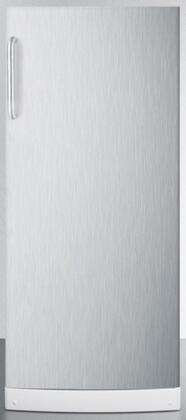 Summit FFAR10SSTB  Counter Depth All Refrigerator with 10.1 cu. ft. Capacity in Stainless Steel