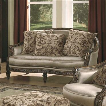 Yuan Tai NT7750L Nottingham Series Fabric Loveseat with Wood Frame Loveseat