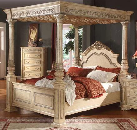 Meridian SIENNAPOSTK Sienna Series  King Size Canopy Bed