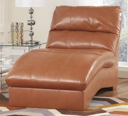 Benchcraft 2700X15 Paulie DuraBlend Chaise with Plush Seat Cushion, Divided Back Design and Tight Seat in