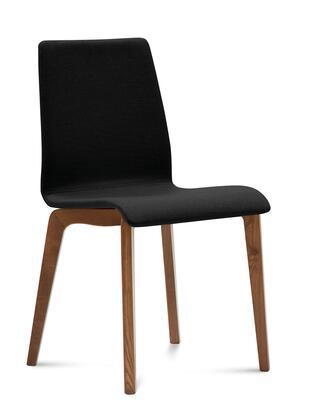 Domitalia JUDESLSFNCA7J Jude-L Chair with Walnut Frame