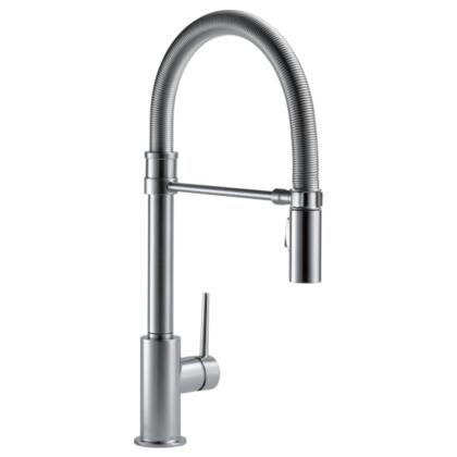 Trinsic  9659-AR-DST Delta Trinsic: Single Handle Pull-Down Kitchen Faucet With Spring Spout in Arctic Stainless