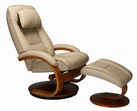 Mac Motion 52LO332103 Oslo Series Transitional Leather Wood and Metal Frame  Recliners