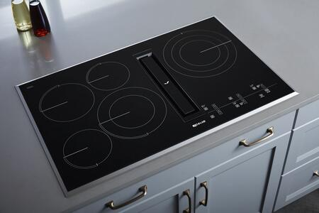 """Jenn-Air JED4536G 36"""" Electric Downdraft Cooktop with Glass Touch Controls, 5 Elements, Perimetric Extraction, and Triple Choice Element, in"""