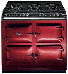 AGA A64LPCLT  Dual Fuel Freestanding Range with Sealed Burner Cooktop, 4.5 cu. ft. Primary Oven Capacity, in Claret