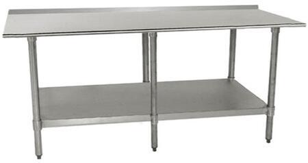 Work Table with Backsplash, 6 Legs
