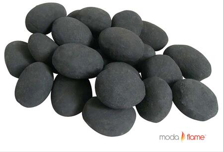 Moda Flame GBA10 Moda Flame 24 Piece Ceramic Fireplace Pebble Set in