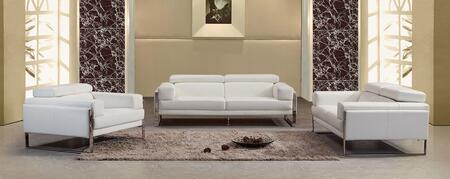 VIG Furniture VGEV808WHTSET Modern Leather Living Room Set