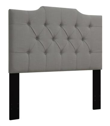 "Pulaski DS-D0142-ONE 60"" Fabric Upholstered Full or Queen Headboard with Button Tufting in"
