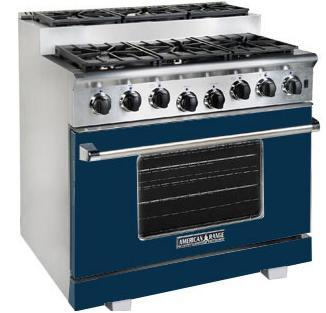 American Range ARR366SDB Titan Series Gas Freestanding Range with Sealed Burner Cooktop, 5.6 cu. ft. Primary Oven Capacity, in Dark Blue