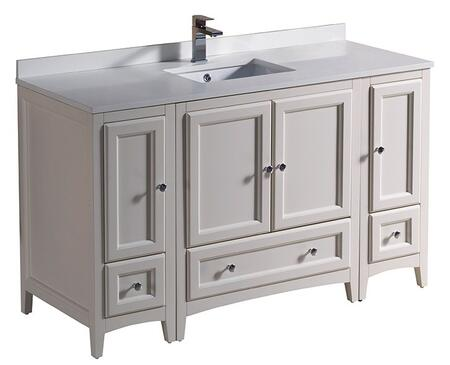 "Fresca FCB20123012 Oxford 54"" Traditional Sink Vanity with Top and Sink in"