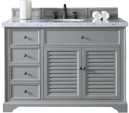 "James Martin Savannah Collection 238-104-V48-UGR- 48"" Urban Gray Single Vanity with Two Soft Closing Doors, Three Soft Closing Drawers, Antique Pewter Hardware and"