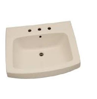 "Barclay 3978 Galaxy Collection 28"" Vitreous China Pedestal Lavatory with Drilled Faucet Holes:"