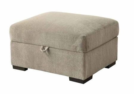 Coaster 500085 Olson Series Transitional Fabric Wood Frame Ottoman
