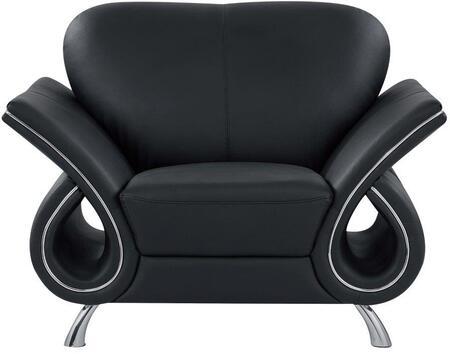 Global Furniture USA U559LVBLCH Trevis Series  in Black