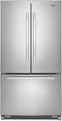 "Whirlpool WRF540CWBM 36""  Counter Depth French Door Refrigerator with 20 cu. ft. Capacity in Stainless Steel"