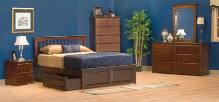 Atlantic Furniture BRORPNMTW Brooklyn Series  Twin Size Bed