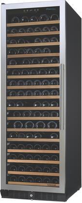 "Wine Enthusiast 23702670x 24"" N'finity Pro Red Wine Cooler with 166 Bottle Capacity, 16 Rolling Shelves, UV Dual Pane Tinted Glass Door, in Stainless Steel with"