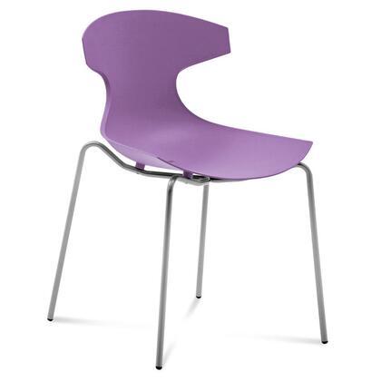 Domitalia ECHOS00FAEPLI Echo Series Contemporary Metal Frame Dining Room Chair