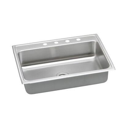 "Elkay PSR31220 31"" Top Mount 20-Gauge Single Bowl Stainless Steel Sink"