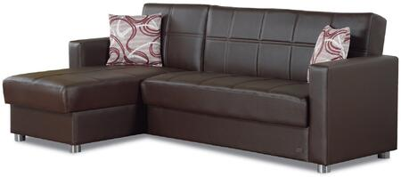 Empire Furniture USA SECSALEM Salem Series Convertible Faux Leather Sofa ...