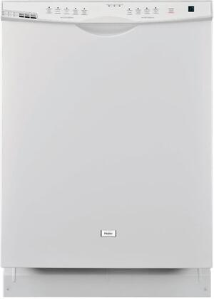 "Haier DWL3225DDWW 24""  White Built In Full Console Dishwasher with"