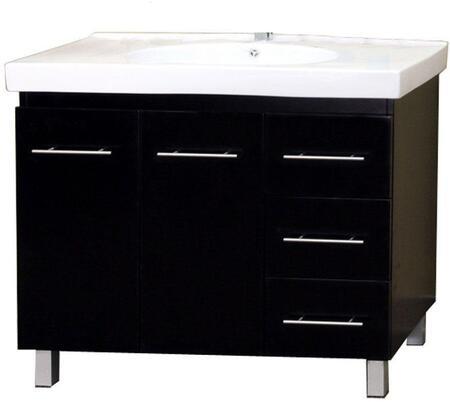 Bellaterra Home 203129-B- Single Sink Vanity Wood