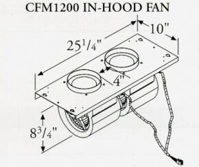 Prizer Hoods CFM600INLINE