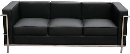 Cour Italian Leather Sofa 176551 S BK