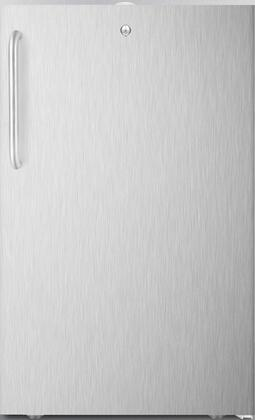 """AccuCold FS407L7CSSx 20"""" Compact Freezer with 2.8 cu. ft. Capacity, Commercially Listed, Factory Installed Lock, Hospital Grade Cord with Green Dot Plug and Professional Towel Bar Handle, in Stainless Steel"""