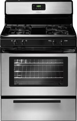 "Frigidaire FFGF3017LS 30"" Gas Freestanding Range with Sealed Burner Cooktop, 4.2 cu. ft. Primary Oven Capacity, Broiler in Stainless Steel"