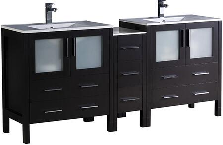 "Fresca FCB62301230XXX Torino 72"" Modern Double Sink Bathroom Vanity with Integrated Sinks"