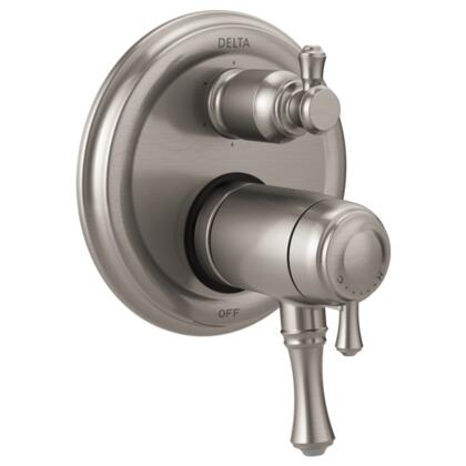 Cassidy T27T997-SS Delta Cassidy: Traditional TempAssure 17T Series Valve Trim with 6-Setting Integrated Diverter in Stainless