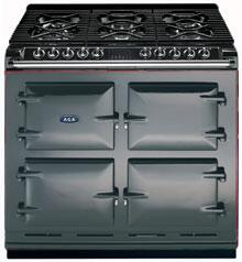 AGA A64NGPWT Six-Four Series Dual Fuel Freestanding Range with Sealed Burner Cooktop, 4.5 cu. ft. Primary Oven Capacity, in Pewter