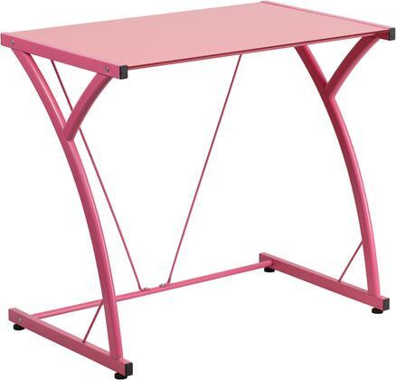 Flash Furniture NANWKSD02PINKGG Contemporary Standard Office Desk