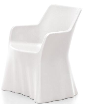 Domitalia PHANTOMP000PETR Phantom Series  Plastic Frame  Patio Chair