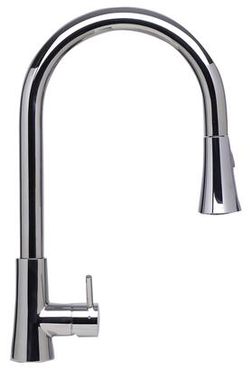 Alfi AB2034-X Single Hole Kitchen Faucet with Stainless Steel, Pull-Down Spray Head with Shower-Spray Mode and Certified by cUPC in