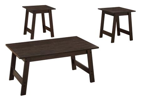 Monarch I793XP 3-Piece Table Set with Coffee Table and 2x End Table in