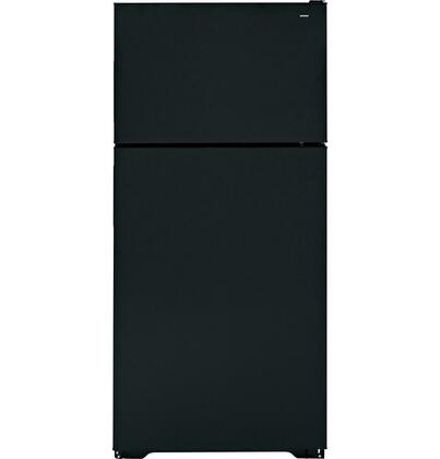 Hotpoint HTR16ABSRBB Freestanding Counter Depth Top Freezer Refrigerator with 15.6 cu. ft. Total Capacity 2 Wire Shelves 4.1 cu. ft. Freezer Capacity