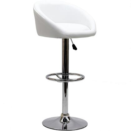 Modway EEI583WHI Marshmallow Series Residential Faux Leather Upholstered Bar Stool