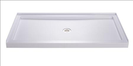 """DreamLine DLT-11 by 60"""" Slimline Collection Low Profile Single Threshold Shower Base with"""