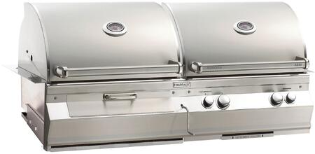 "FireMagic A830I6EAXCB Aurora 55"" Built-In Combo Grill with E-Burners, Back Burner, Charcoal Ignitor, and Analog Thermometer"