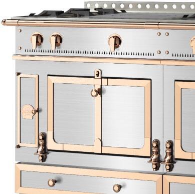 La Cornue Polished Copper Trim, Accent and Rail